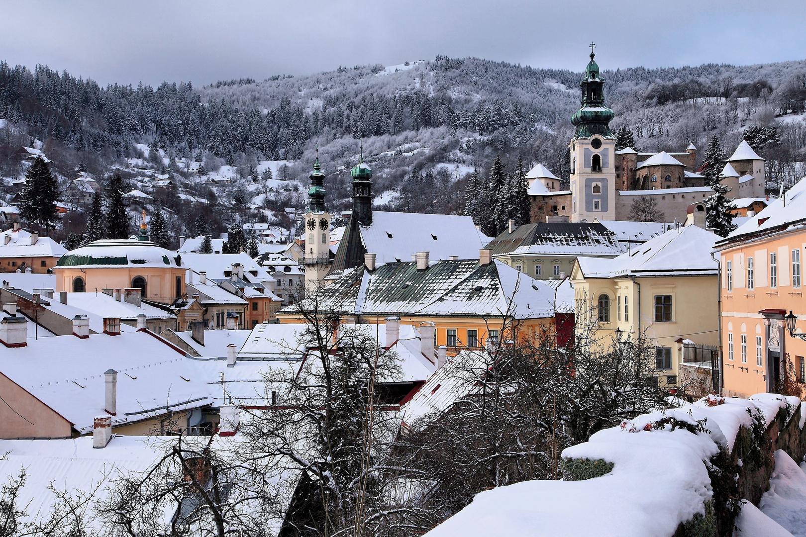 Ein Wintermärchen... (UNESCO Weltkulturerbe Stiavnica - SK)