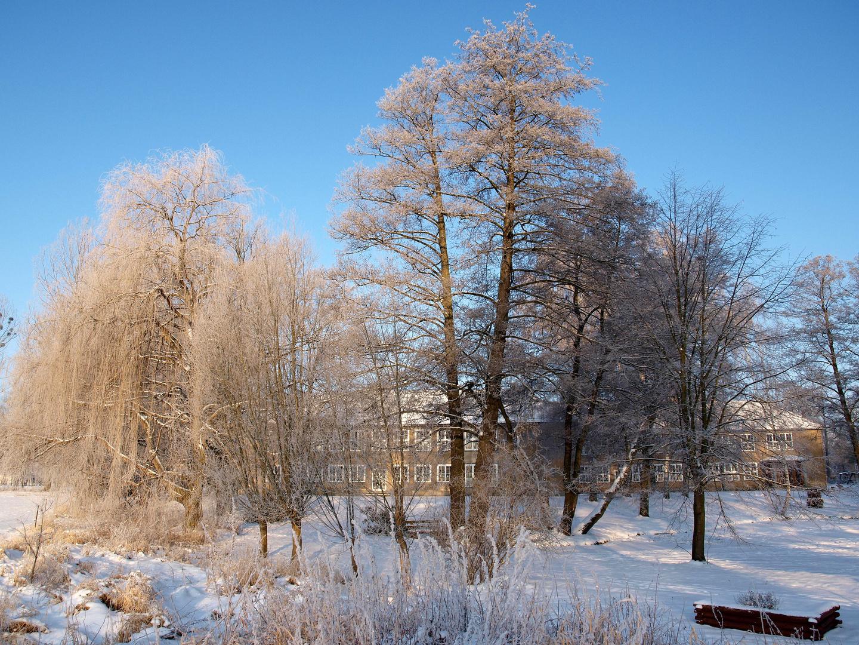 Ein Wintermorgen an der Baruther Grundschule