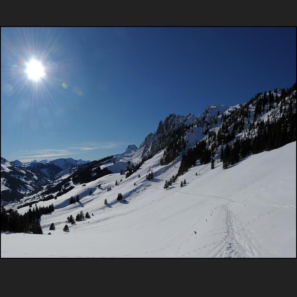 ein Wintersonnentag