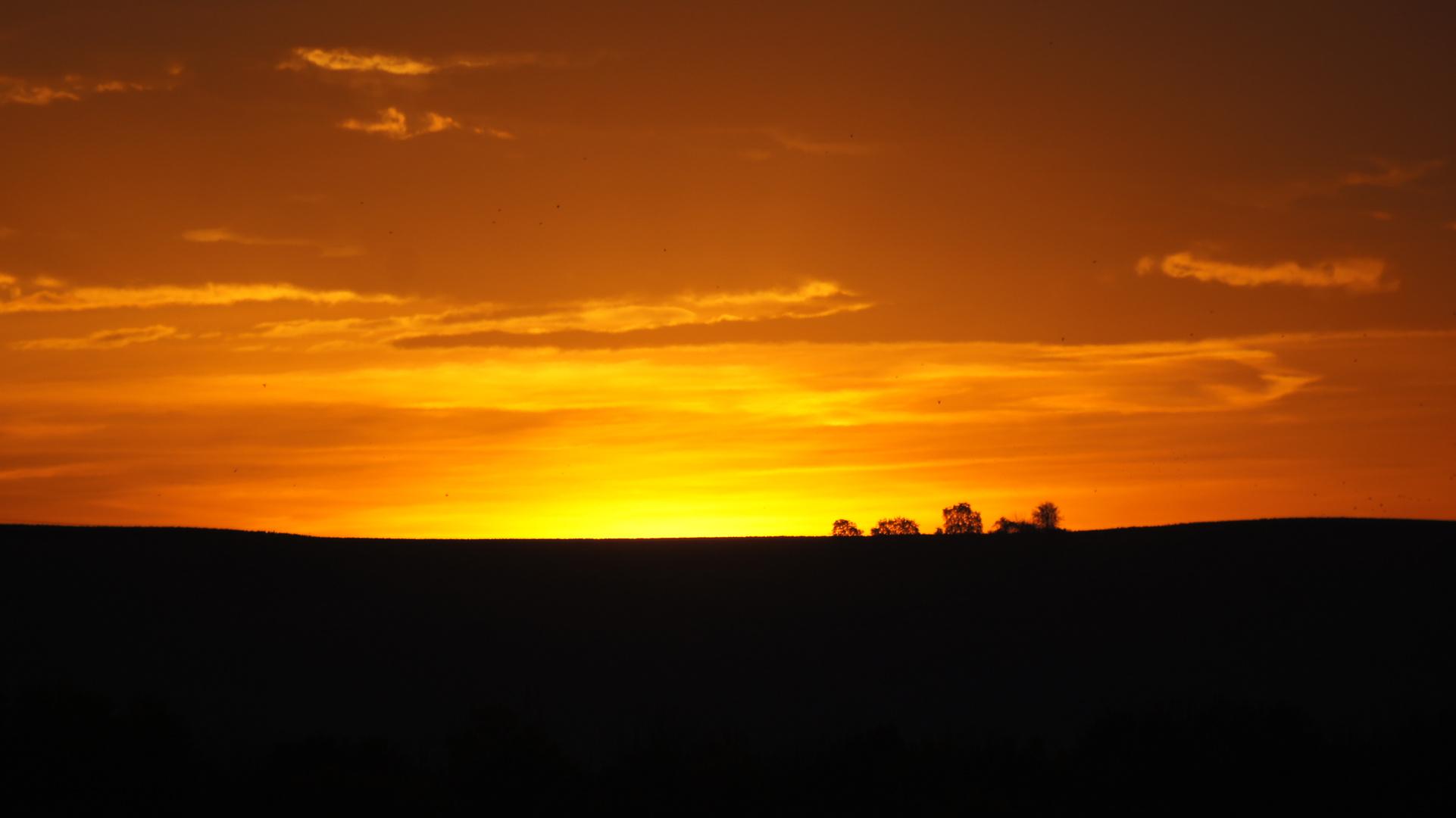 Ein wirklich goldener Sonnenaufgang