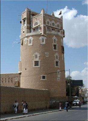 Ein Wohnturm in Sanaa