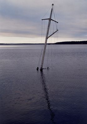 Ein Wrack im Ost-See