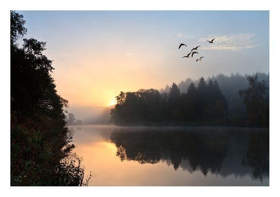 Ein wunderbare Morgen im Fuldatal