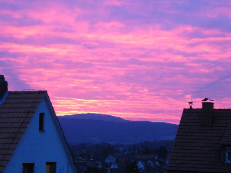 ein wunderschöner Sonnenaufgang in Witzenhausen
