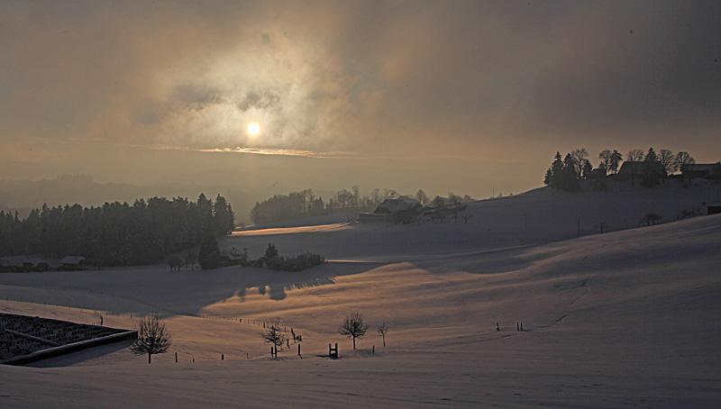 Ein wunderschöner Wintertag bei Affoltern i.E.