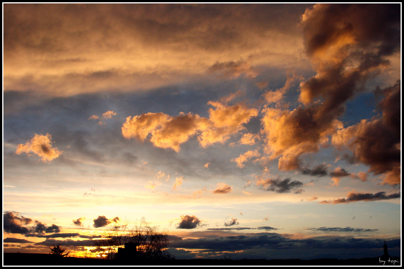 ein wundervoller Sonnenuntergang