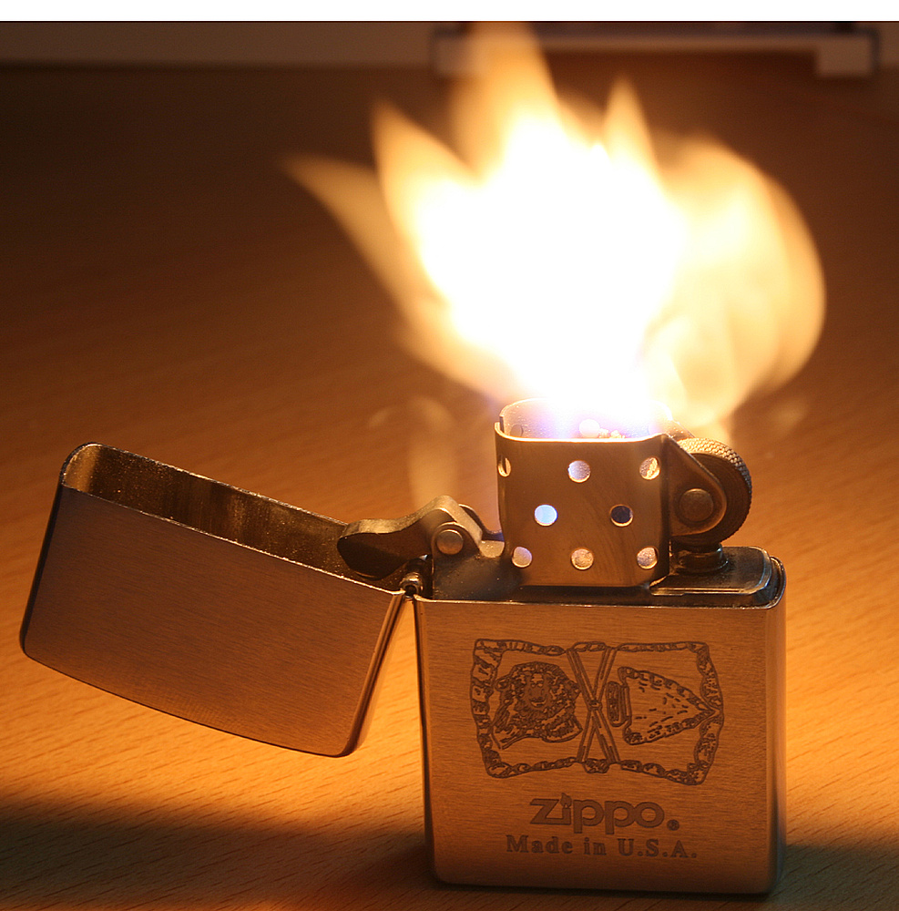 Ein ZIPPO brennt immer