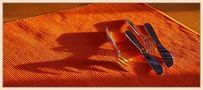 ein zufälliges Arrangement in orange ... von Jürgen von den Berken