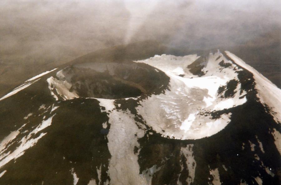 Einblick in den Mt. Ruapehu Dezember 1995 (Fotoscan)