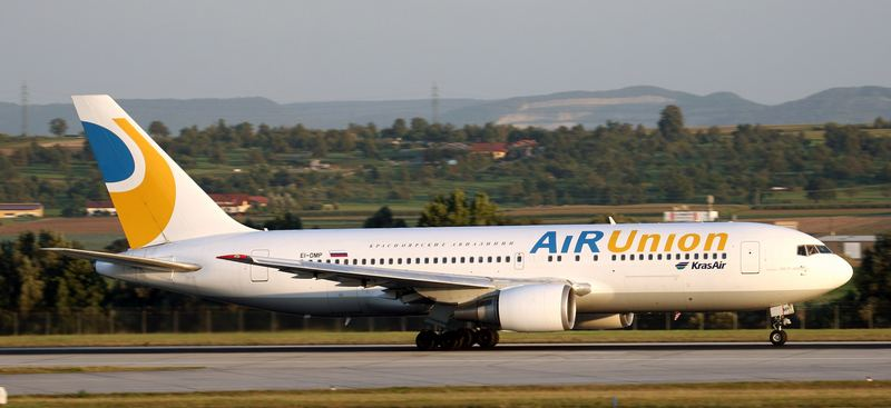 Eine 767-200ER der Air Union