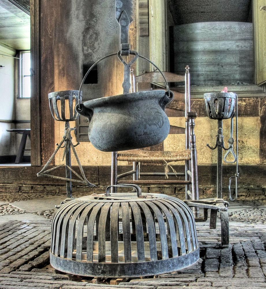 Eine alte Kochstelle