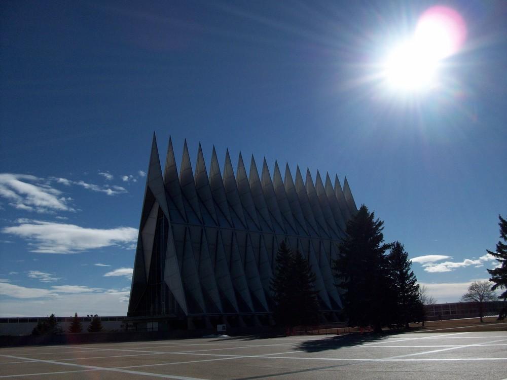 Eine Amerikanische Kirche.