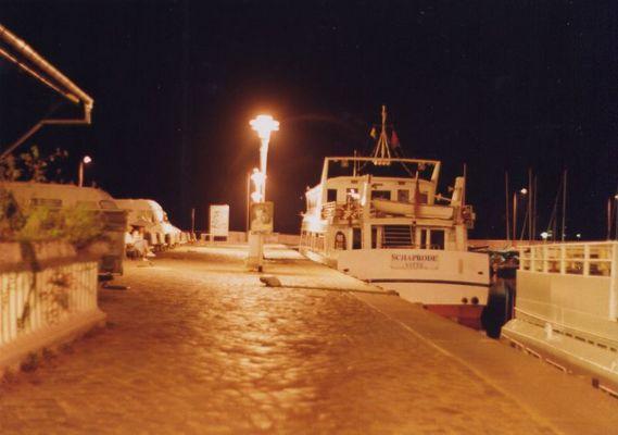 Eine Aufnahme vom Hafen in Stralsund