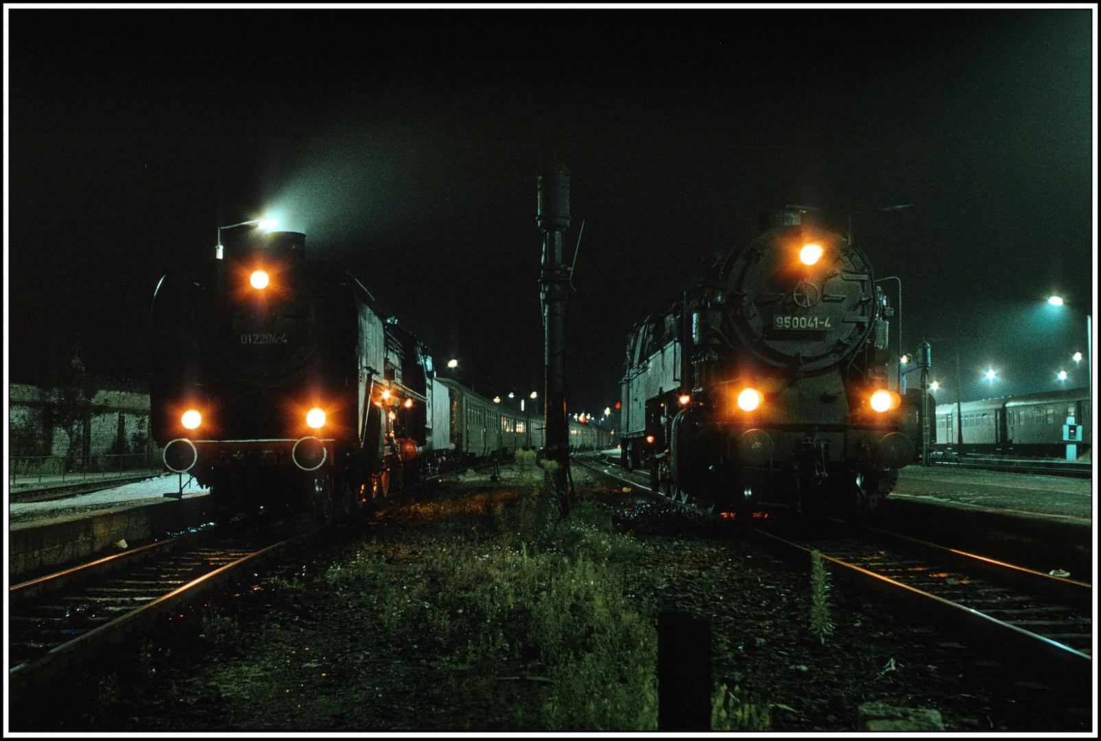 Eine Begegnung Nachts so gegen 3.00 Uhr im Bahnhof Saalfeld