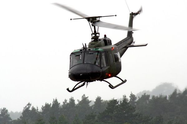 Eine Bell UH1 D der Heeresflieger