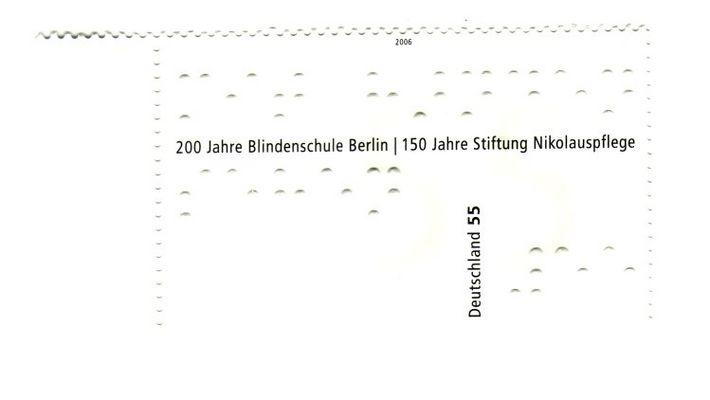 Eine Briefmarke für Blinde