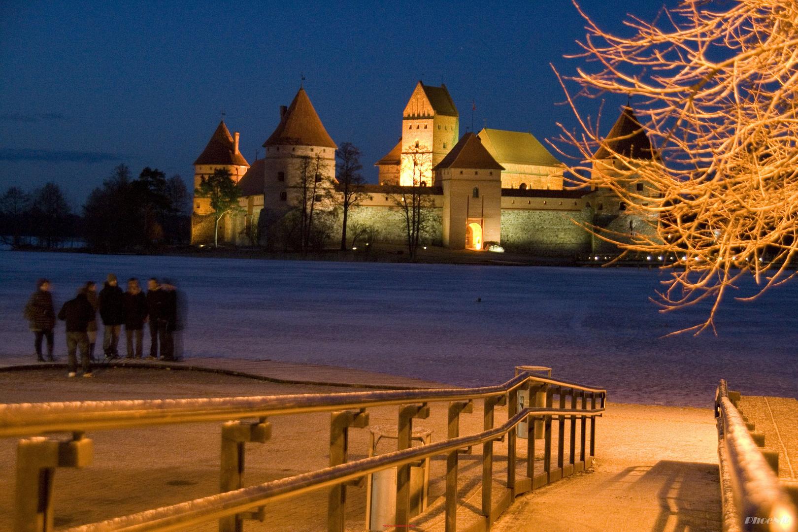 eine Burg im Eis