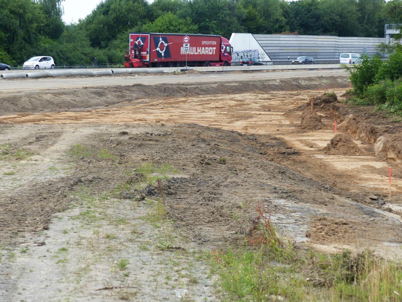 Eine der vielen Abfahrten im neuen Autobahnkreuz Löhne