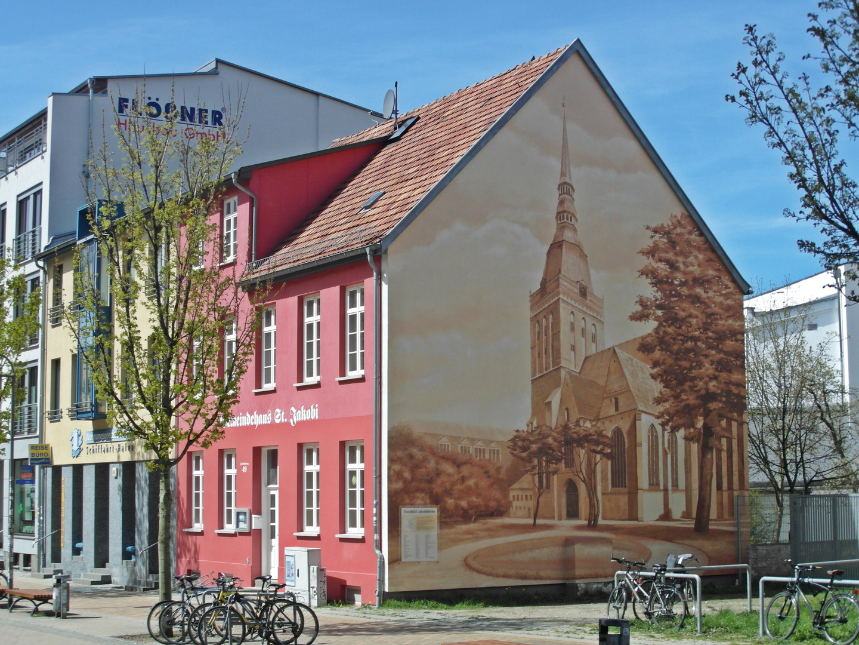Eine Fassadenmalerei