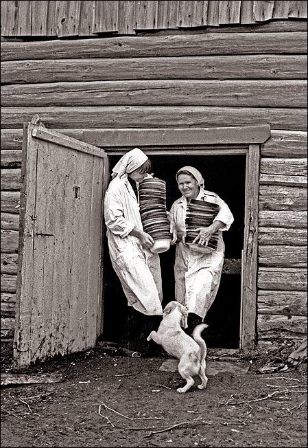 Eine Feldkantine in Sibirien.