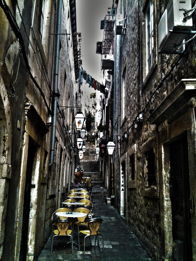 Eine Gasse in Dubrovnik