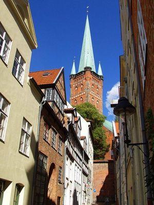 Eine Gasse in Lübeck