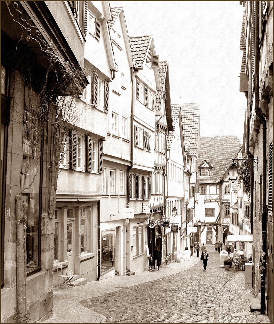 eine Gasse in Tübingen