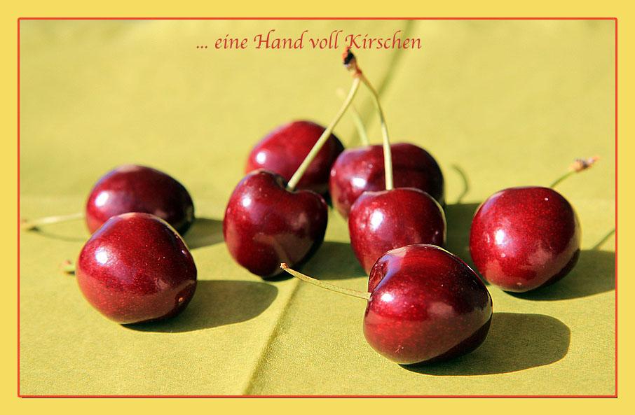 EINE HANDVOLL KIRSCHEN ...