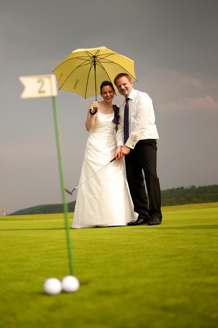 Eine Hochzeit auf dem Golfplatz