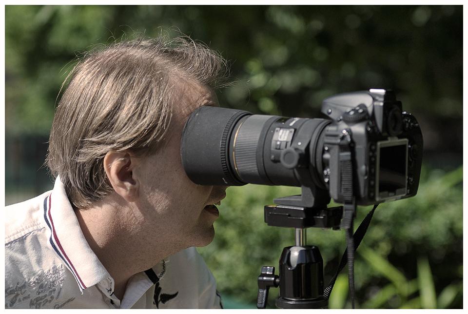Eine Kamera sucht den Durchblick