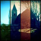 Eine Kirche in Streifen