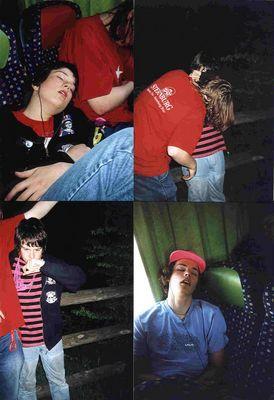 eine kleine collage von webers klassen fahrtsfotos