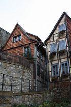 Eine kleine Gasse in Quedlinburg