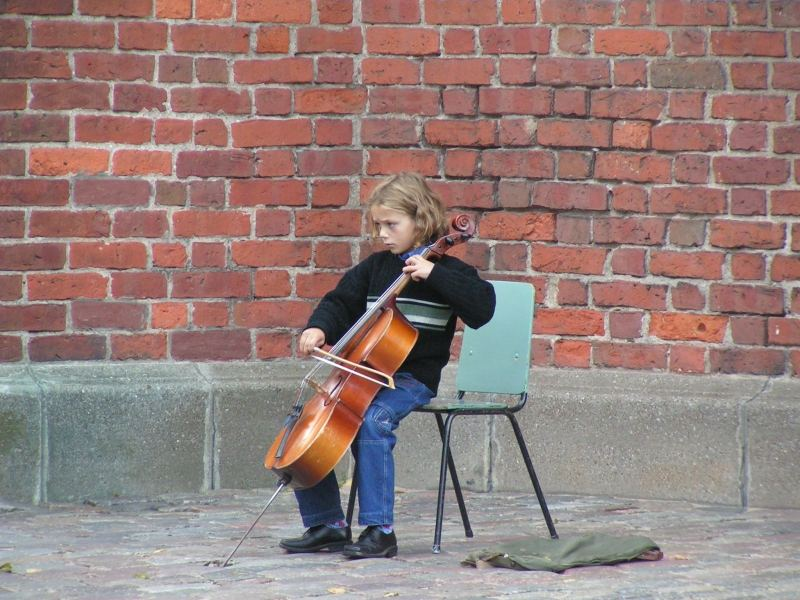 Eine kleine Solistin in Riga