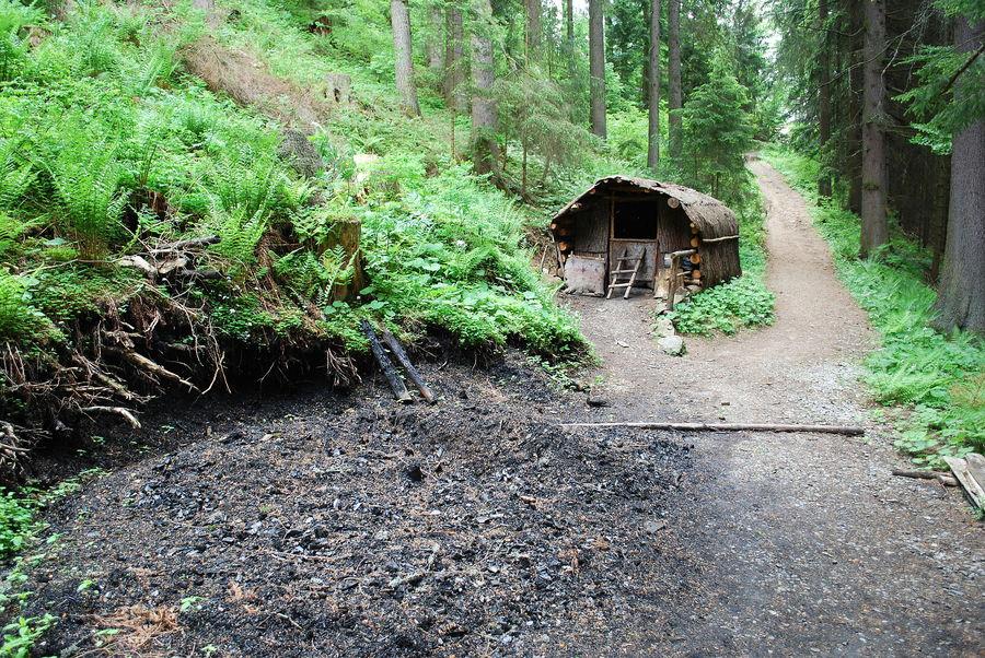 eine Köhlerhütte