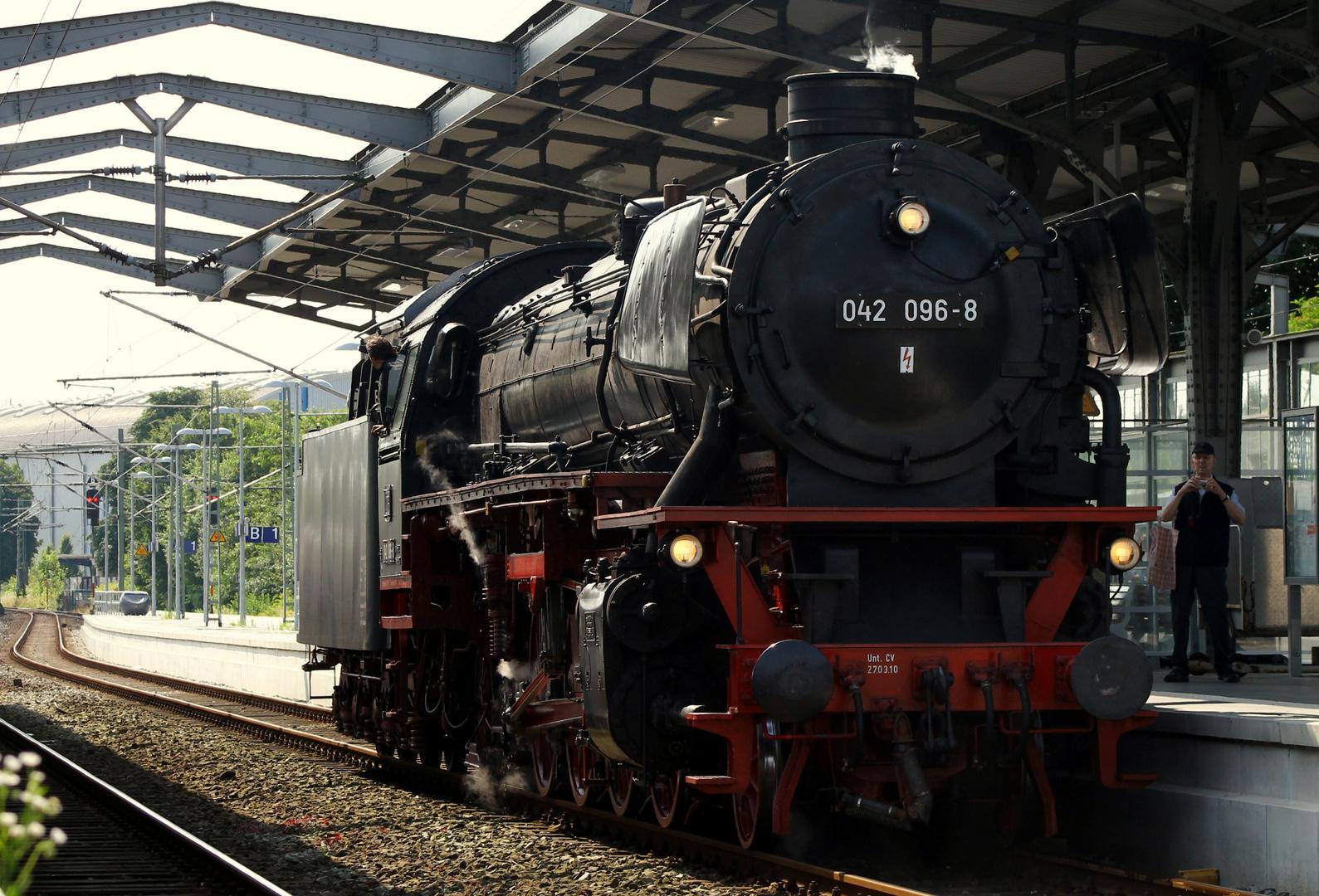 Eine Lady zu Besuch in Rendsburg