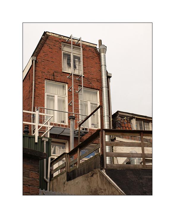 Eine Leiter zum Dach