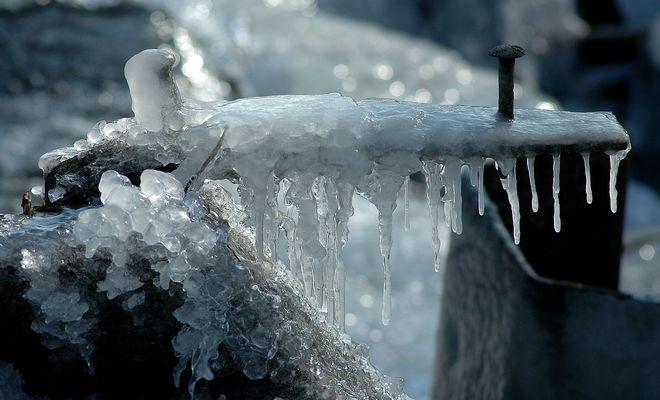 Eine meiner bisher besten Detail - Aufnahmen von Eisgebilden