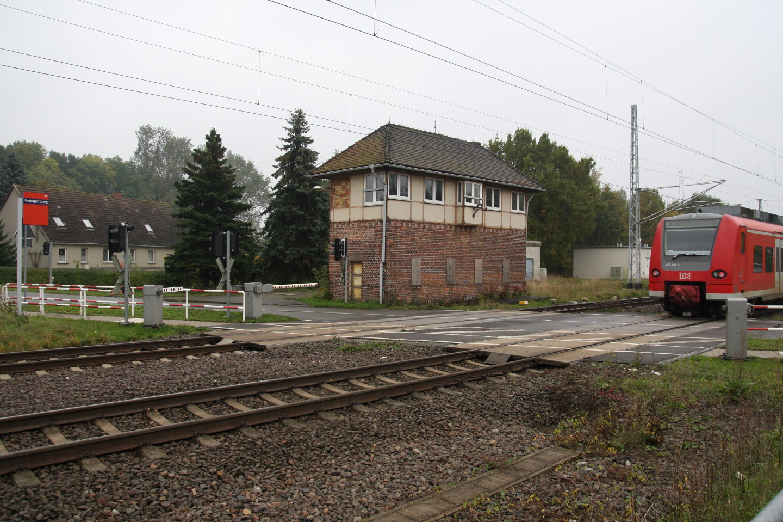 Eine Regionalbahn fährt in Geestgottberg