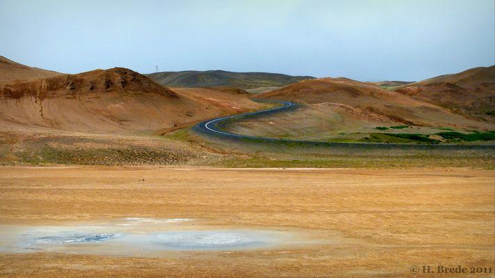Eine S-Kurve in Island