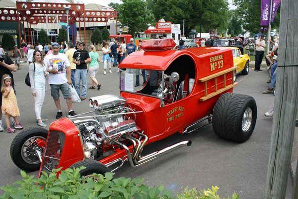 Eine sehr schnelle amerikanischen Feuerwehrauto.