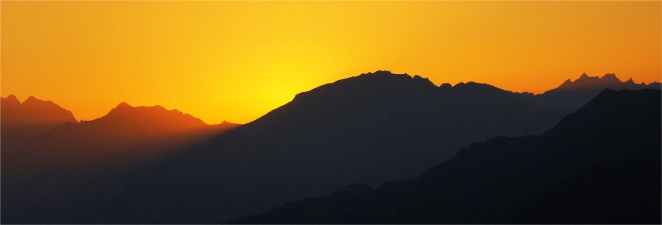 Eine Sekunde nach dem Untergang der Sonne