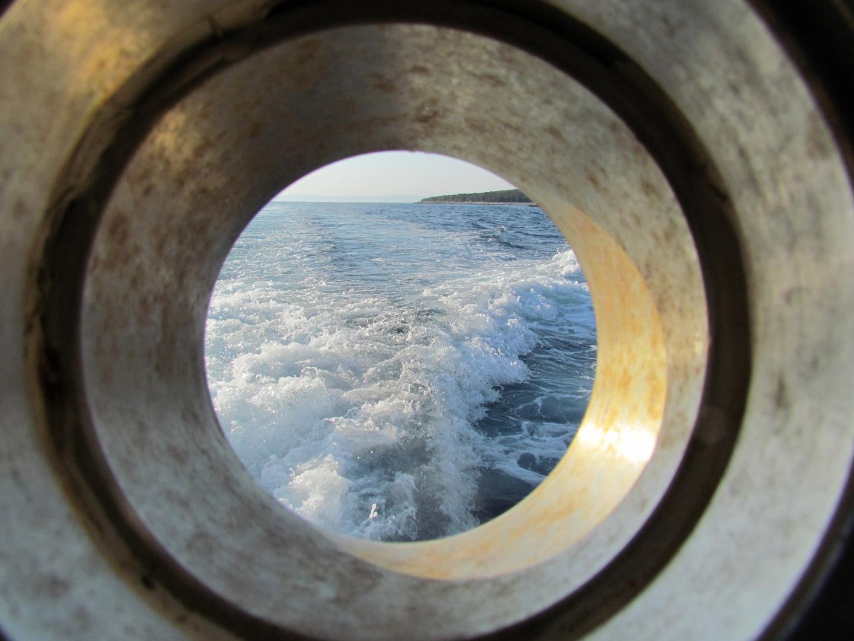 Eine Sekundenentscheidung auf dem Boot