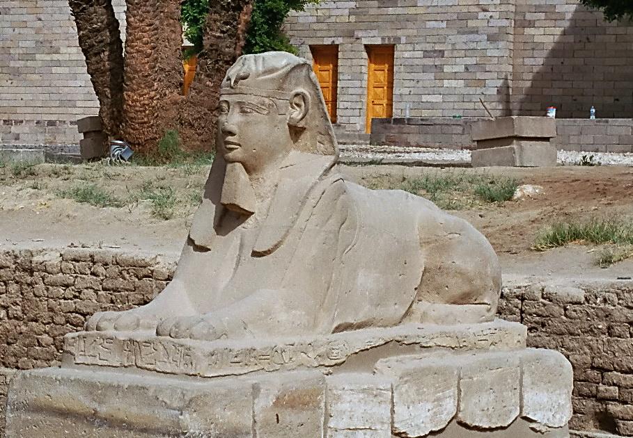 Eine Sphinx in Luxor