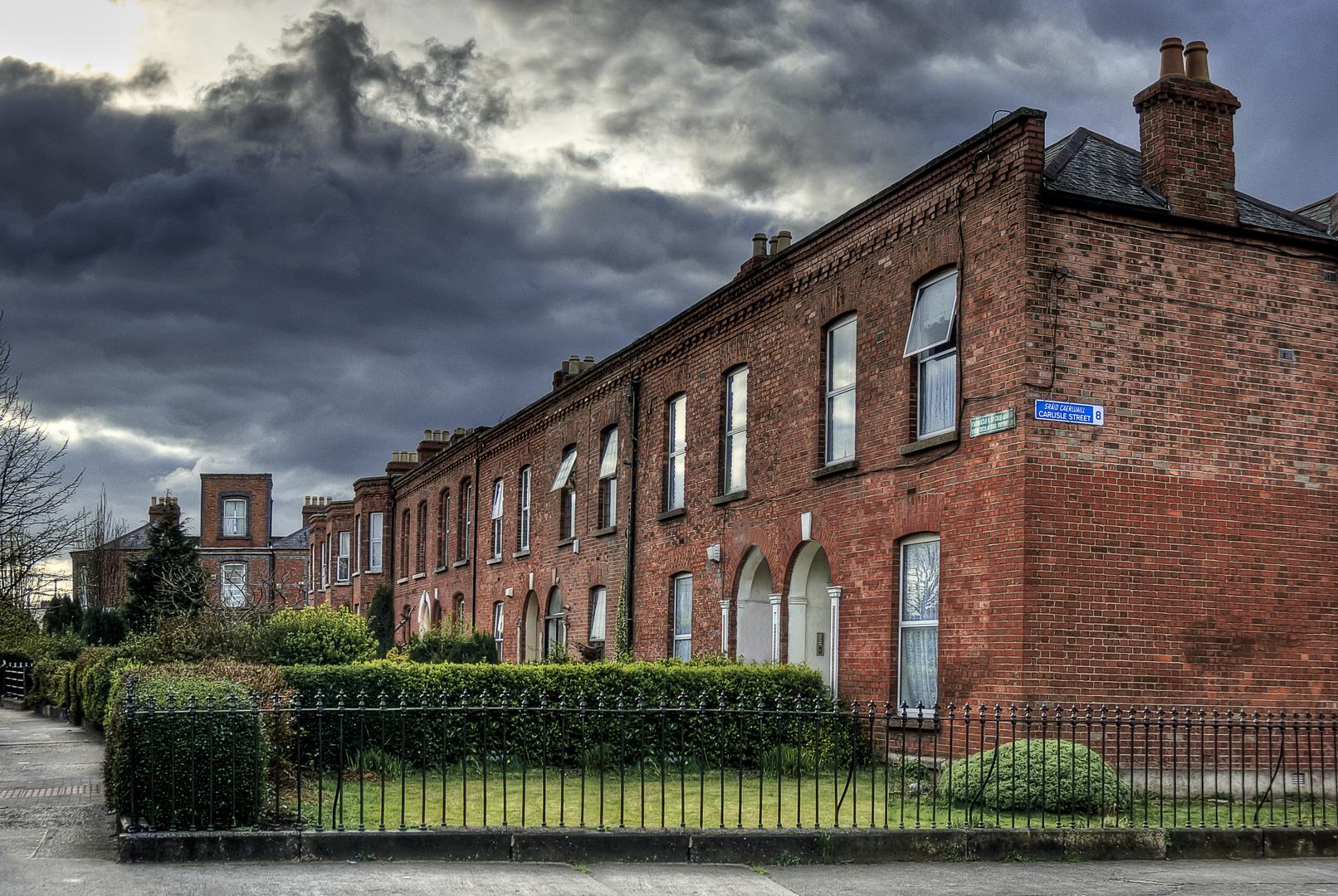 eine Straße in Dublin...