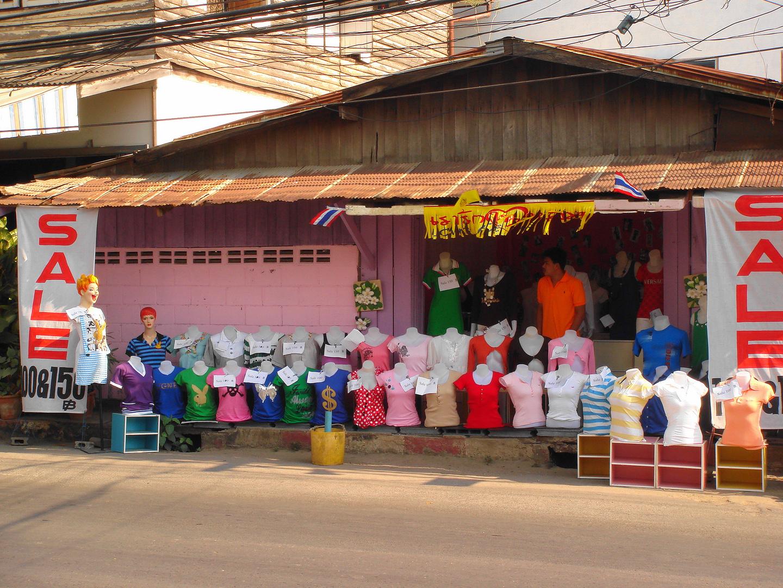 Eine Strasse in Thailand