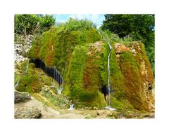 Eine tolle Kulisse bietet der Wasserfall Dreimühlen (Eifel).
