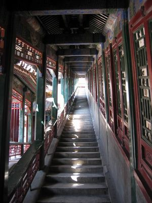 eine Treppe gebildet von der Jade