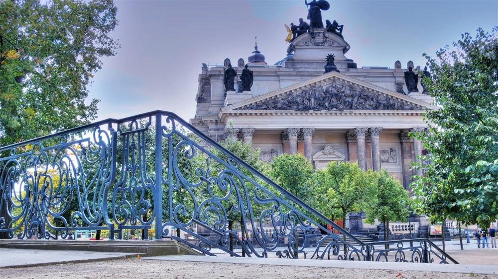 Eine Treppe in Dresden