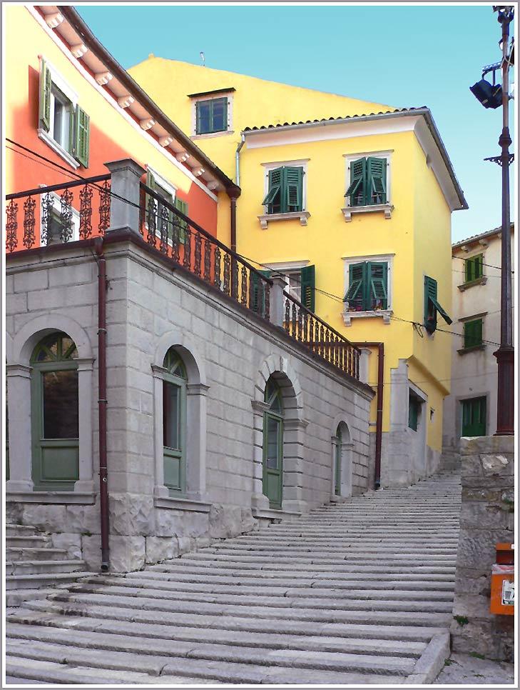 Eine Treppe in Labin